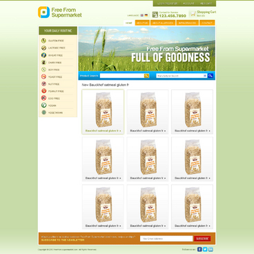 free from supermarket - full of goodness Web Design  Draft # 11 by timefortheweb