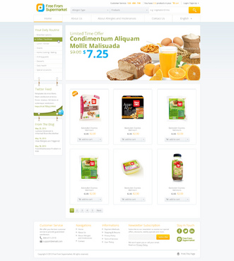 free from supermarket - full of goodness Web Design  Draft # 13 by hamdirizal