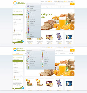 free from supermarket - full of goodness Web Design  Draft # 17 by hamdirizal