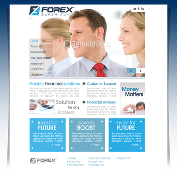 Forex Super Fund Blog Design Template  Draft # 1 by pivotal