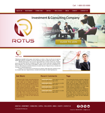Rotus Blog Design Template  Draft # 3 by honeybadger