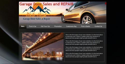 Mile High Garage Blog Design Template  Draft # 1 by Mlpatoi
