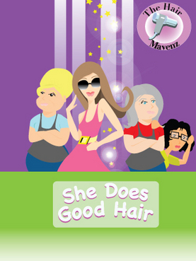 The Hair Mavens--She Does Good Hair Marketing collateral  Draft # 27 by crimsonkid21