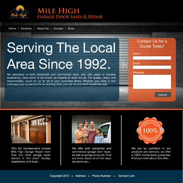 Mile High Garage Blog Design Template  Draft # 6 by dsmart1
