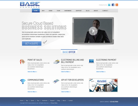 Base Commerce Blog Design Template  Draft # 11 by timefortheweb