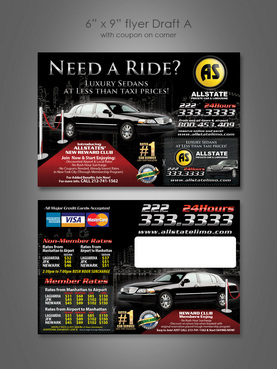 Allstate Limo Mobile App promotion flier