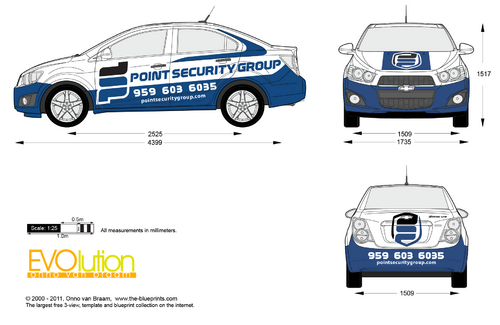 Vehicle Wrap for a security company