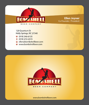Bombshell Beer Company Business Cards and Stationery  Draft # 55 by devanihe