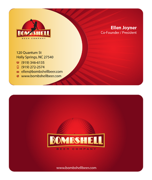Bombshell Beer Company Business Cards and Stationery  Draft # 56 by devanihe