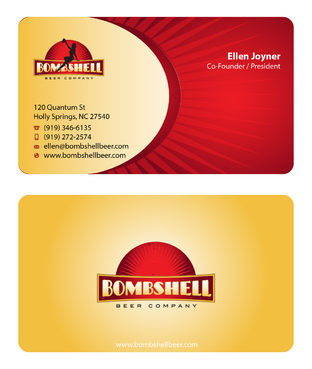 Bombshell Beer Company Business Cards and Stationery  Draft # 57 by devanihe