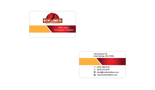 Bombshell Beer Company Business Cards and Stationery  Draft # 174 by senthil16