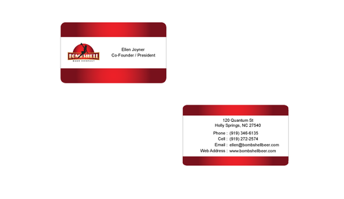 Bombshell Beer Company Business Cards and Stationery  Draft # 176 by senthil16