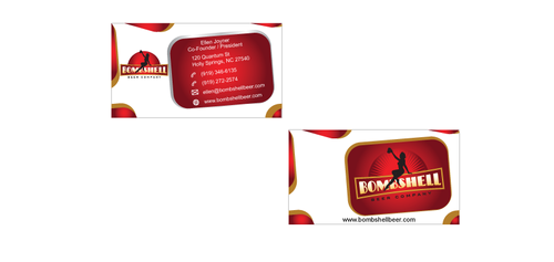 Bombshell Beer Company Business Cards and Stationery  Draft # 190 by senthil16