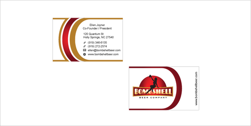 Bombshell Beer Company Business Cards and Stationery  Draft # 192 by senthil16