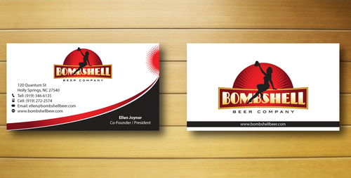 Bombshell Beer Company Business Cards and Stationery  Draft # 214 by jpgart92