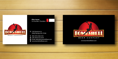 Bombshell Beer Company Business Cards and Stationery  Draft # 215 by jpgart92