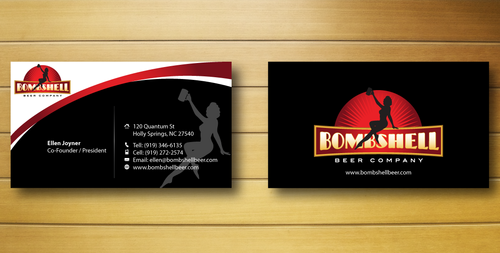 Bombshell Beer Company Business Cards and Stationery  Draft # 218 by jpgart92