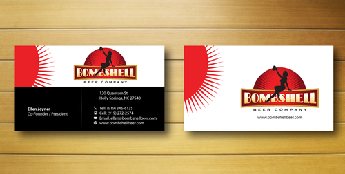Bombshell Beer Company Business Cards and Stationery  Draft # 219 by jpgart92