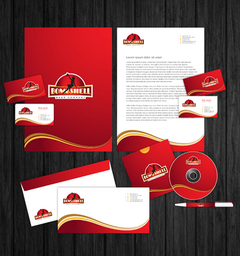 Bombshell Beer Company Business Cards and Stationery  Draft # 250 by Majestic