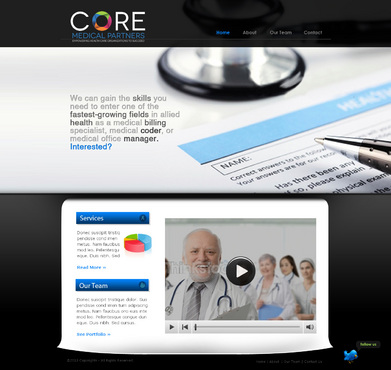 Core Medical Partners Complete Web Design Solution  Draft # 3 by Roll101