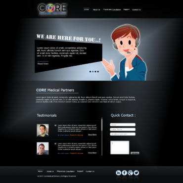 Core Medical Partners Complete Web Design Solution  Draft # 4 by xclusivedesigns