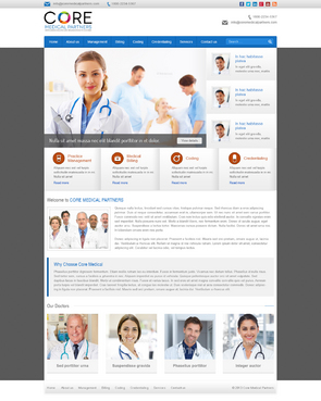 Core Medical Partners Complete Web Design Solution  Draft # 5 by timefortheweb