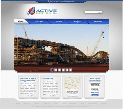 Industrial Construction, mining construction, Electrical works  Complete Web Design Solution  Draft # 72 by lovag