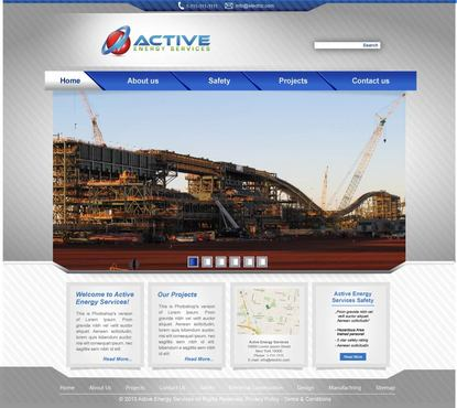 Industrial Construction, mining construction, Electrical works  Complete Web Design Solution  Draft # 74 by lovag