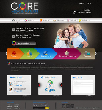 Core Medical Partners Complete Web Design Solution  Draft # 8 by pivotal
