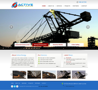 Industrial Construction, mining construction, Electrical works  Complete Web Design Solution  Draft # 87 by sarfarazdznr