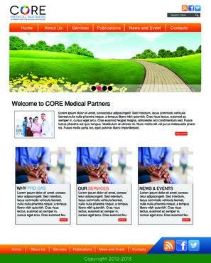 Core Medical Partners Complete Web Design Solution  Draft # 12 by lMajorPainl