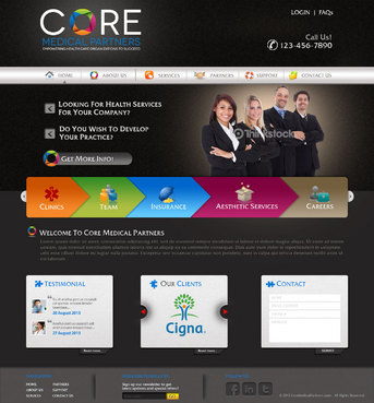 Core Medical Partners Complete Web Design Solution  Draft # 18 by pivotal