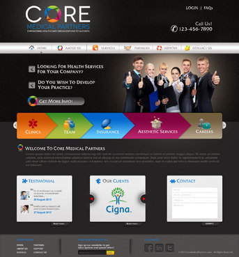 Core Medical Partners Complete Web Design Solution  Draft # 19 by pivotal
