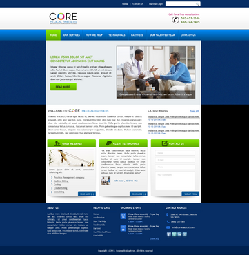 Core Medical Partners Complete Web Design Solution  Draft # 31 by kalyan