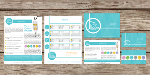 postcard/menu sheet/fact sheet/business cards/