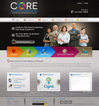 Core Medical Partners Complete Web Design Solution  Draft # 59 by pivotal
