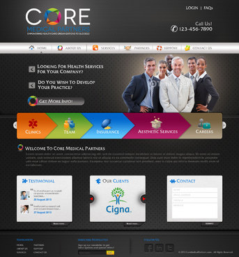 Core Medical Partners Complete Web Design Solution  Draft # 61 by pivotal