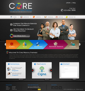 Core Medical Partners Complete Web Design Solution  Draft # 62 by pivotal