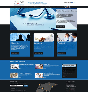 Core Medical Partners Complete Web Design Solution  Draft # 88 by znsols