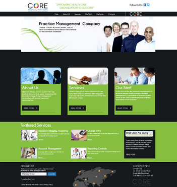 Core Medical Partners Complete Web Design Solution  Draft # 89 by znsols