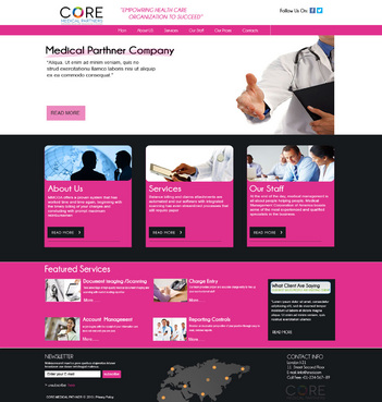 Core Medical Partners Complete Web Design Solution  Draft # 90 by znsols