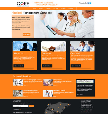 Core Medical Partners Complete Web Design Solution  Draft # 91 by znsols