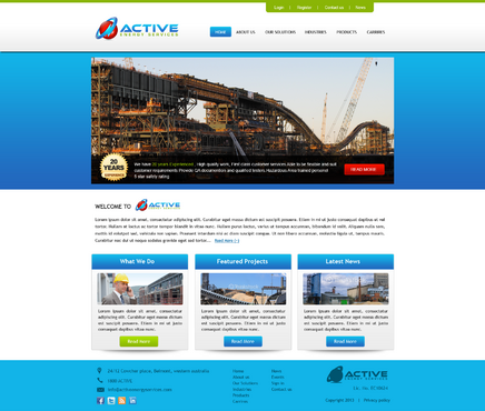 Industrial Construction, mining construction, Electrical works  Complete Web Design Solution  Draft # 170 by kalyan