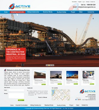 Industrial Construction, mining construction, Electrical works  Complete Web Design Solution  Draft # 172 by syukurkurnia