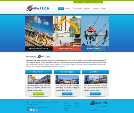 Industrial Construction, mining construction, Electrical works  Complete Web Design Solution  Draft # 174 by kalyan