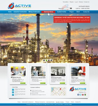 Industrial Construction, mining construction, Electrical works  Complete Web Design Solution  Draft # 263 by syukurkurnia