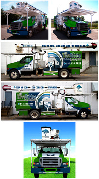 Vehicle Wrap Design for Tree Service