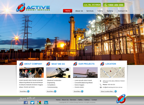 Industrial Construction, mining construction, Electrical works  Complete Web Design Solution Winning Design by itmech