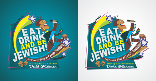 Eat, Drink and Be Jewish!    The Funny Side of Family Traditions A Logo, Monogram, or Icon  Draft # 61 by Erza8