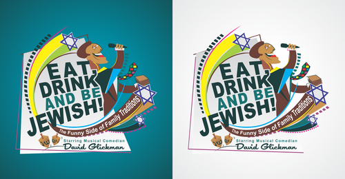 Eat, Drink and Be Jewish!    The Funny Side of Family Traditions A Logo, Monogram, or Icon  Draft # 62 by Erza8